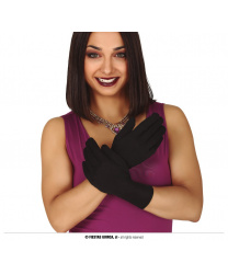 Черные перчатки короткие