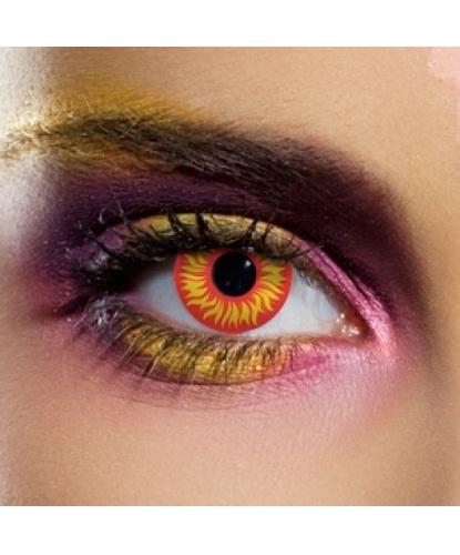 Линзы Волчий глаз, без диоптрий, срок ношения 90 дней (Англия)