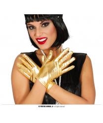 Короткие золотые перчатки