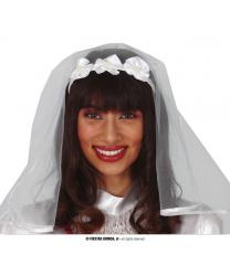 Ободок с фатой невесты