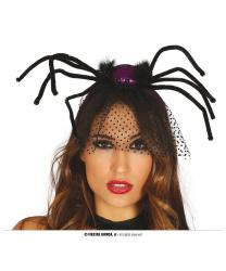 Ободок с фиолетовым пауком