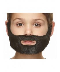 Маленькая борода черного цвета