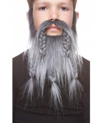 Детская борода викинга, седая