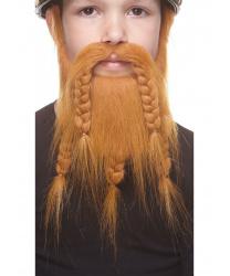 Детская борода викинга, рыжая