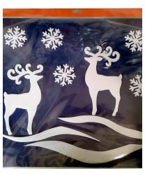 """Новогоднее украшение на окно """"Олени"""""""
