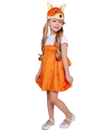 Детский костюм Белка-Кнопка: головной убор, сарафан (Россия)