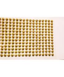 Стразы самоклеящиеся 260 шт, золотые