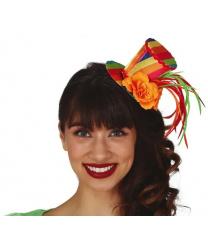Разноцветная мини-шляпка