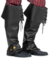 Черные накладки на обувь со шнуровкой