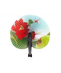Бумажный веер (красный лотос)