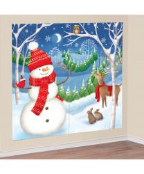 Новогодний баннер на стену