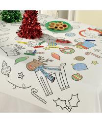 Скатерть-раскраска Новогодняя  из бумаги