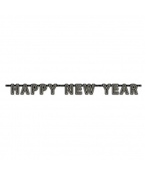 """Подвесная декорация на Новый год """" Happy New Year"""" черная"""