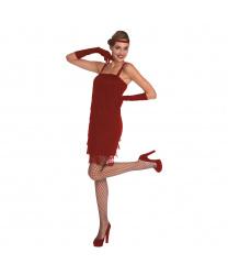Платье  Флеппер красное