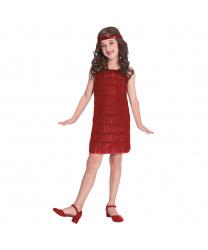 Детский красный костюм Флеппер