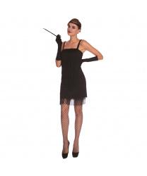 Женское черное платье Флеппер