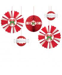 Новогоднее подвесное украшение из бумаги