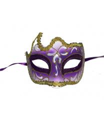 Фиолетовая маска с золотой тесьмой