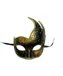 Золотая ассиметричная маска