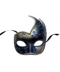 Синяя ассиметричная маска
