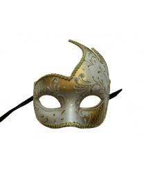 Белая ассиметричная маска
