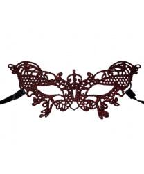 Кружевная маска Filo butterfly, красная с блестками