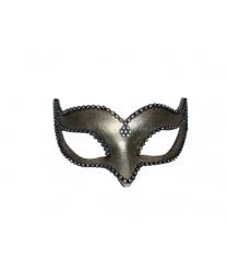 Венецианская маска Volpina, золотая со стразами