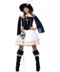 Костюм подруги мушкетера: накладки на обувь, платье, шляпа (Италия)