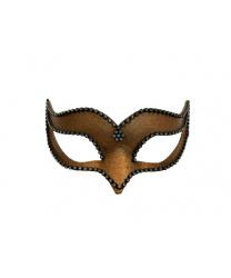 Венецианская маска Volpina, бронзовая со стразами