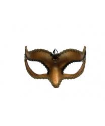 Венецианская маска Volpina, бронзовая с тесьмой