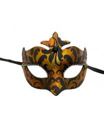 """Венецианская маска со стразами """"Огненная"""""""