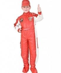 Детский костюм Гонщик: кепка, комбинезон, накладки на обувь, перчатки (Италия)