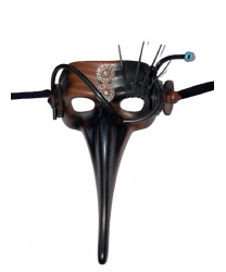Полумаска Scaramuccia в стиле Steampunk модель D
