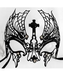 Венецианская маска VAMPIRELLA с черными блестками