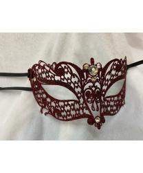 Венецианская красная маска Brillina, с блестками