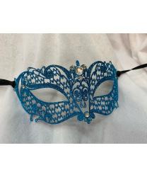 Венецианская синяя с блестками маска Brillina