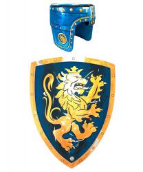 """Синий шлем и щит """"Золотой лев"""""""