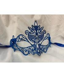 Ярко-синяя маска Pavone с блестками