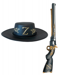Детская шляпа и винтовка Зорро