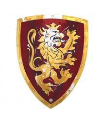 """Красный щит рыцаря """"Золотой лев"""""""