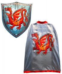 """Накидка и щит рыцаря """"Янтарный дракон"""""""