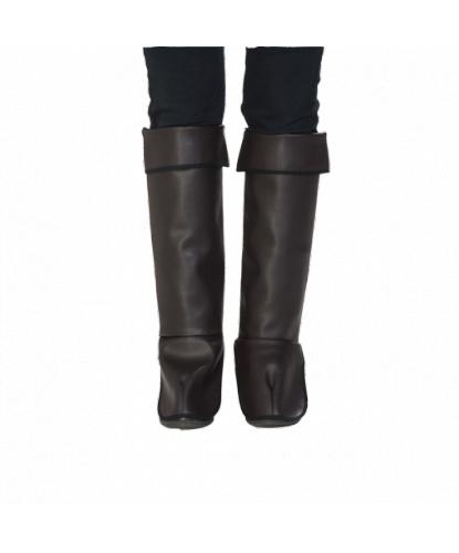 Накладки на сапоги женские, цвет коричневый (Германия)