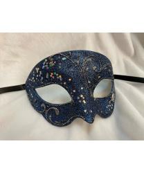 Карнавальная маска BIANCA Звездное небо, синяя