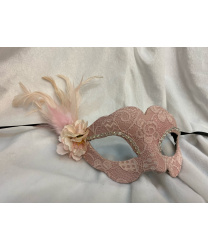 Розовая маска Civetta ricoperta groppa fiori