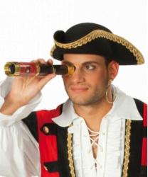 Пиратская треуголка с золотым кантом - Пираты и пиратки, арт: 4836