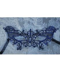 Кружевная маска Filo butterfly, синяя