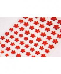 Стразы самоклеящиеся цветочки 101 шт, красные