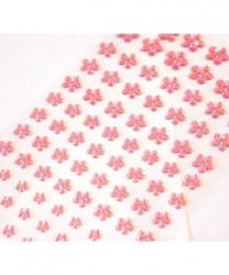 Стразы самоклеящиеся цветочки 101 шт, розовые