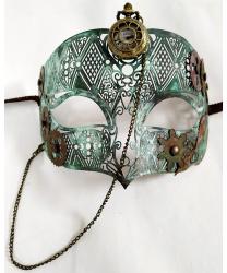 Венецианская маска Steampunk с часами