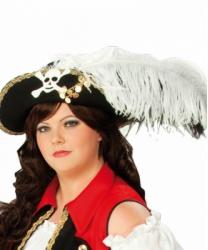 Женская пиратская шляпа с пером